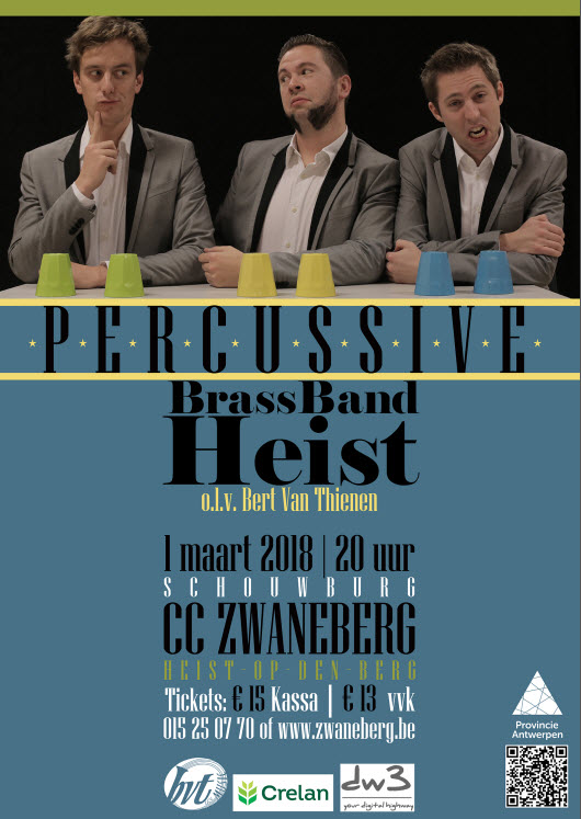 Percussive & Brass Band Heist in concert